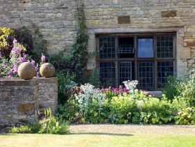English Garden at Sulgrave Manor Oxfordshire