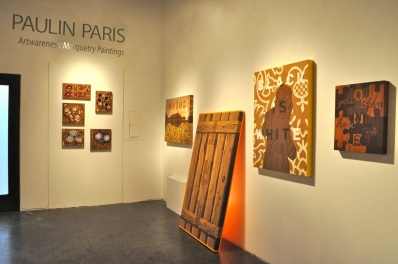 "Paulin Paris, ""Artwareness:  Marquetry Paintings,"" (April 10 - May 12, 2010), Installation View. Frank Pictures"