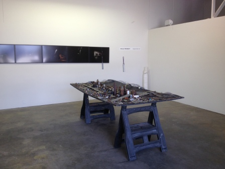 "Olivier Mirguet, ""Scrap City,"" (June 2014)  Installation view. ArtLook Gallery, Los Angeles"