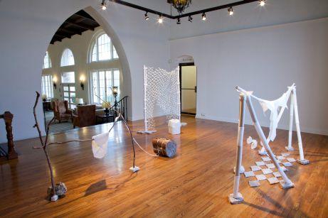 "Jane Gillespie Pryor, ""Territory,""(solo). Installation view. (October-November 2014), Greenleaf Gallery, Whittier College, Whittier, CA"