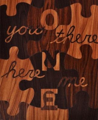"""Paulin Paris, """"Puzzle: Words #1,""""1 20 x 16"""", 2009"""