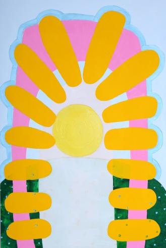 """Debra Bianculli, """"Ubiquitous,"""" 2013, Acrylic on canvas, 33 x 42"""""""