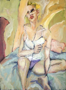 """Resting Marla,"" 2010 Acrylic on canvas, 30x22 inches"