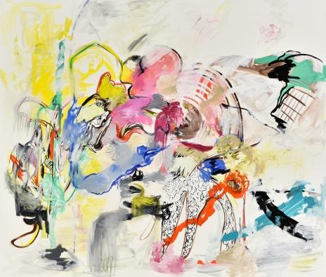 """""""Inner Rhythms ,"""" Acrylic on canvas, 92 x 108 inches, 2015"""