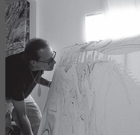 Diego Santanelli in his studio