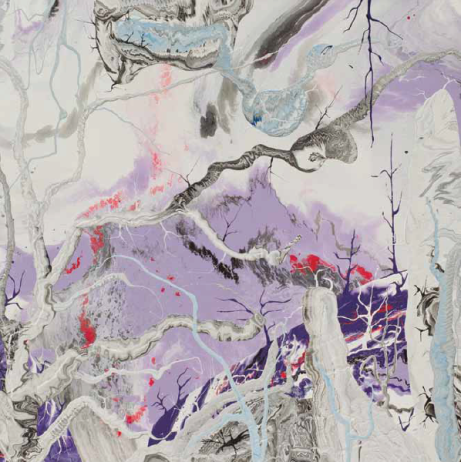 Diego Santanelli, Apocalypse zero.3M, 2016, enamel on canvas, 60 x 60 inches. Photo: Antonio Vanni.