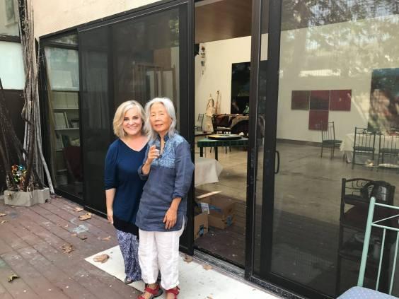 Dr Jill Thayer and Diana Wong at Santa Monica studio