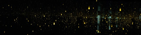 Fireflies on the Water (panoramic)