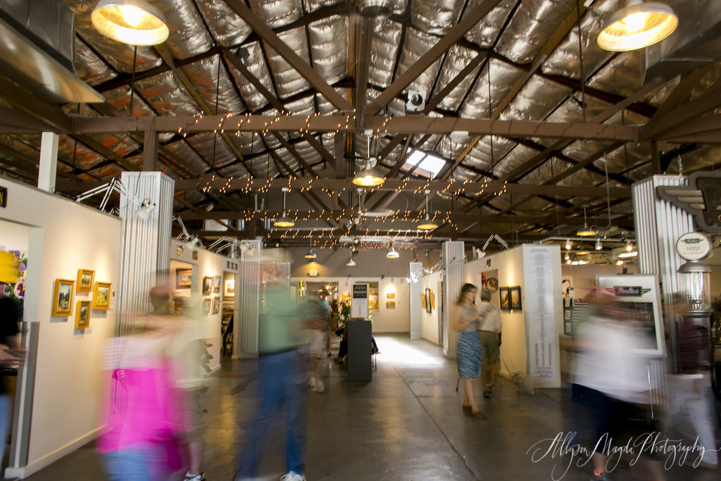 Studios on the Park,a nonprofit open studios art center in the heart of historic downtown Paso Robles features open studios, artists in residence, galleries and exhibitions, and educational programs in the Arts for intergenerational audiences. Atrium photo by Allyson Magda Photography. Photos courtesy Studios on the Park.